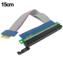 PCI-E PCI Express 1X to 16X Adapter Converter Riser Card Extender flexible forlængerkabel, Kabellængde: 15cm
