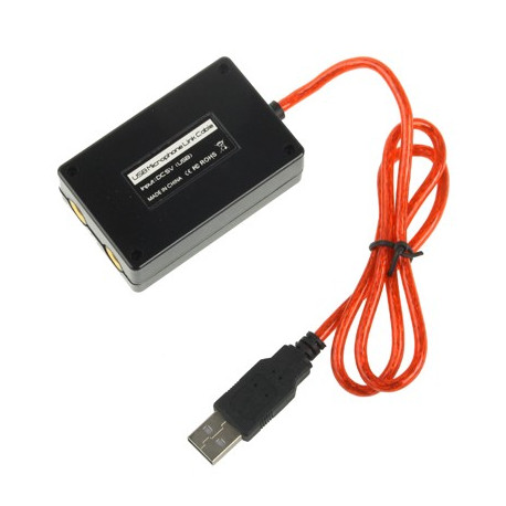 Image of   USB-forbundet adapter til 2 mikrofoner, Længde: 60cm