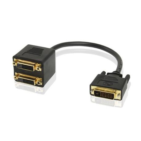 N/A – 24 +1 pin dvi hanstik til 2 dvi hunstik kabeladapter fra olsens it aps