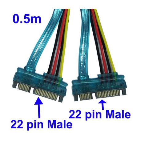 Image of   22-pin hanstik SATA-kabel