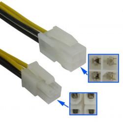 4-pin Mand to 4 pin Kvinde ATX Power forlængerledning