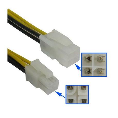 N/A 4-pin mand til 4 pin female atx power forlængerledning fra olsens it aps