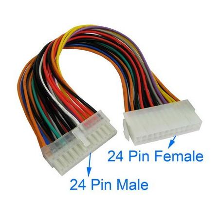 24 pin han til 24 pin hun atx forlængerkabel fra N/A fra olsens it aps