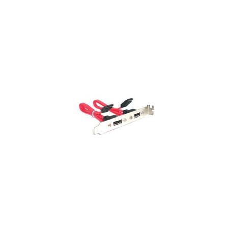 Image of   2-port 7-pin SATA-kabel til eSATA-strømadapter bracket, kabellængde: 29,5 cm