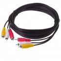 Høj kvalitet RCA-kabel (Audio/Video), 15 m langt