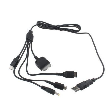 Image of   5-i-1 Universalt USB-genopladningskabel