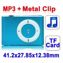 TF (Micro SD) Card Slot MP3-afspiller med Metal Clip (Grøn)