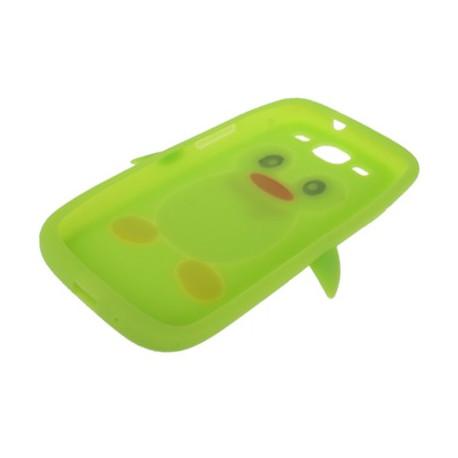 Image of   Silikonehylster til Samsung Galaxy S III / i9300 i nuttet pingvin-design (grøn)