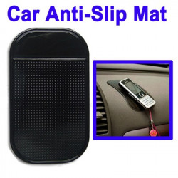 Bil Anti-Slip Mat Super Sticky Pad til Phone / GPS / MP4 / MP3 (Sort)