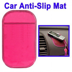 Bil Anti-Slip Mat Super Sticky Pad til Phone / GPS / MP4 / MP3 (Lyserød)