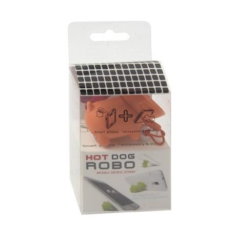 Image of   Nuttet hund til mobiltelefon, stander- / anti-støv-funktion (orange)