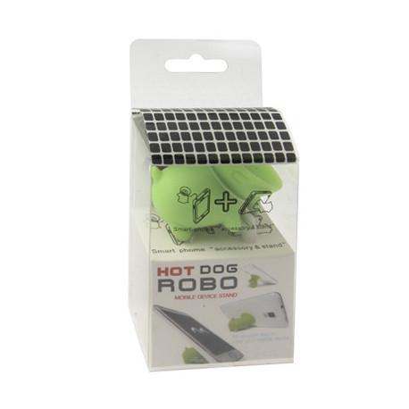 Image of   Nuttet hund til mobiltelefon, stander- / anti-støv-funktion (grøn)