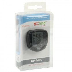 SD-548C 14 Funktion Black LCD Vandtæt Wireless Multifunktionel Bicycle Cycle Speedometer Cykelcomputer Odometer