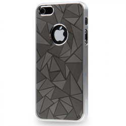 3D Diamond Metal + Plastic Beskyttende Case for iPhone 5 (Grå)