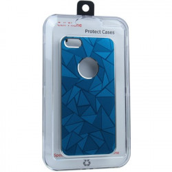3D Diamond Metal + Plastic Beskyttende Case for iPhone 5 (blå)