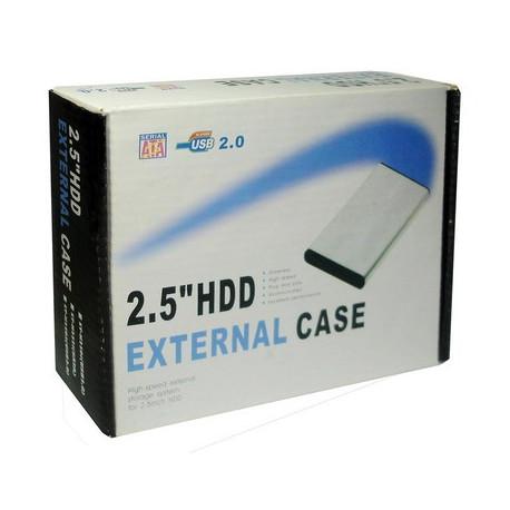 2,5 tommer hdd sata eksternt kabinet, størrelse: 12,2 x 7,4 x 1,3 cm (blå) fra N/A fra olsens it aps