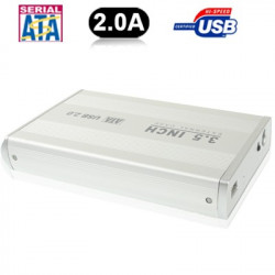 3,5 tommer HDD SATA External Case Med 2.0A Power, Support USB 2,0
