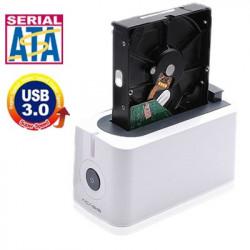 Multi-Funktion Communicator USB 3,0 2,5 tommer / 3,5 tommer SATA HDD Docking Station, Support Intelligent Sleep-function