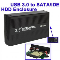USB 3,0 to SATA / IDE High-Speed ​​3,5 tommer HDD Enclosure