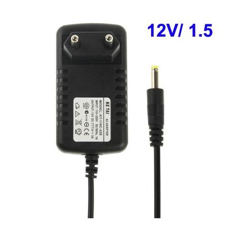 Image of   Vekselstrømsadapter til bærbar DVD-afspiller, udgang: jævnstrøm 12 V / 1,5 A