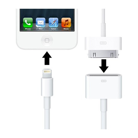 N/A – 20cm iphone5 sync data kabel (hun til lightning 8pin han) fra olsens it aps