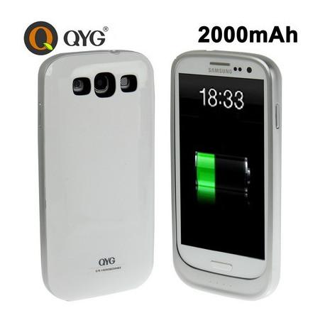 Image of   2600mAh Portabel Power Bank Ekstern Batteri Taske til Samsung Galaxy S III / i9300 (QB2000-S3)