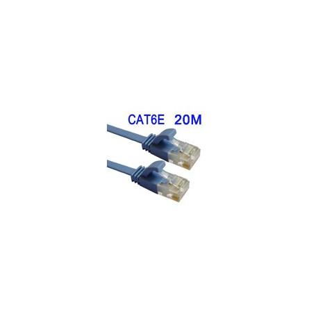 Cat6e fladt ethernet lan netværkskabel, længde: 20m fra N/A fra olsens it aps