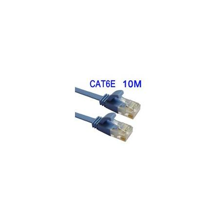 Cat6e flat ethernet lan netværkskabel, længde: 10m fra N/A på olsens it aps