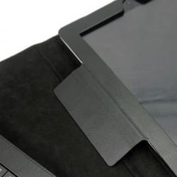 Bluetooth Keyboard with aftagelig Lædertaske to nye iPad (iPad 3), Sort