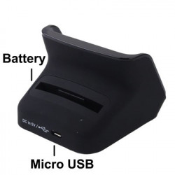 Bordlader Cradle with 2. Batteri Slot the Samsung Galaxy SIII / i9300
