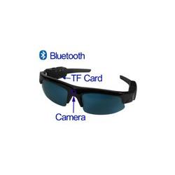 Spion Solbriller Video Kamera med Bluetooth