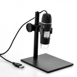 USB Digital Microscope - 500x zoom, 8 lysdioder, Højdejusterbar holder