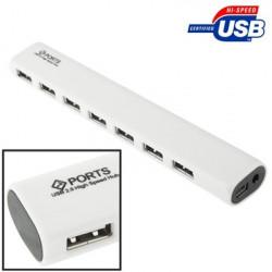 7 Sticks USB 2.0 Højhastigheds HUB (Hvid)