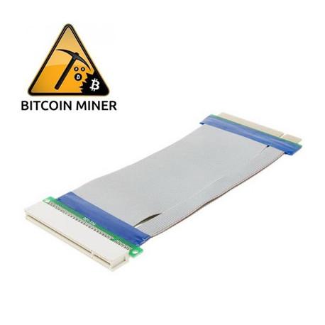 PCI Express 32bit Fleksibel Forlængerkabel Ribbon Adapter 15cm