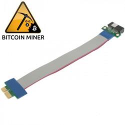 PCI Express 1X Riser Kort Fleksibel forlængerkabel Ribbon Adapter 19cm