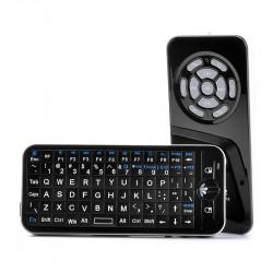 Trådløs Mus + Fjernbetjening - 2,4 GHz, 8 meters rækkevidde, QWERTY tastatur