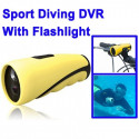 Spy Sport Action kamera vandtæt med lommelygte
