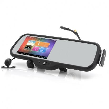 Image of   Android bagside spejl med parkering kamera Maxxis Dashcam 5 tommer skærm GPS Bluetooth Headset