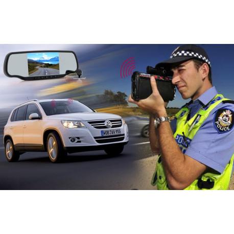 """Image of   Bakspejl til bilen med Dashcam og trådløs parkeringskamera """"Carmax"""" , 5 tommer skærm, GPS, Bluetooth"""