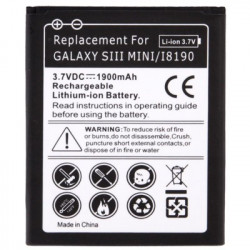 1900mAh Batteri til Samsung Galaxy SIII mini / i8190