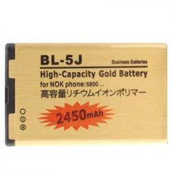 2450mAh BL-5J Batteri til Nokia 200 / 201 / 2010 / 302 / Lumia 520