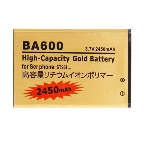 Image of   BA600 2450mAh Batteri til Sony Xperia U / ST25i