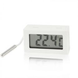Mini LCD Indendørs Digital Termometer (Centigrade Display), Hvid