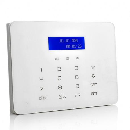 "Image of   GSM trådløst alarmsystem ""Prezerve"" - Dør + Window Detektor, PIR, trådløs sirene, x2 fjernbetjening"