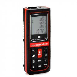 Håndbåret Laserafstandsmåler - 0,05 til 80 meter, Afstand / Area / Volumetrisk Measure, timerindstillingen, Spejlvend Endestykke