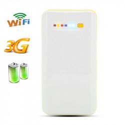 Bærbare 3G trådløse routeren + strøm bank - 7800mAh kapacitet, NAS