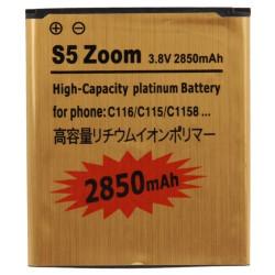 S5 Zoom 2850mAh høj kapacitet Guld forretning batteri til Samsung Galaxy K zoom