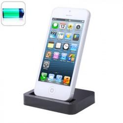 Høj kvalitet bund dok oplader til iPhone 6 / iPhone 5 (sort)