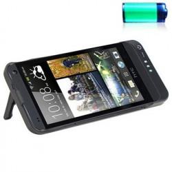 3800mAh kubisk tekstur eksternt batteri oplader taske med holder til HTC One M7