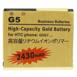 2430mAh høj kapacitet Guld batteri til HTC Desire / G7 HTC Nexus One / G5